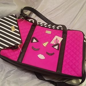 Betsey johnson weekender with xbody NWT